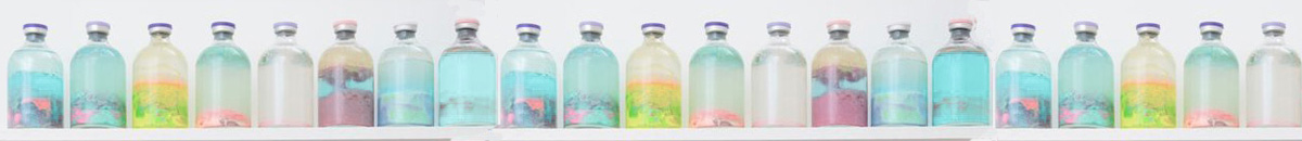 peinture chalk pastel bouteilles