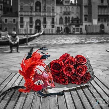 carte encadrement roses