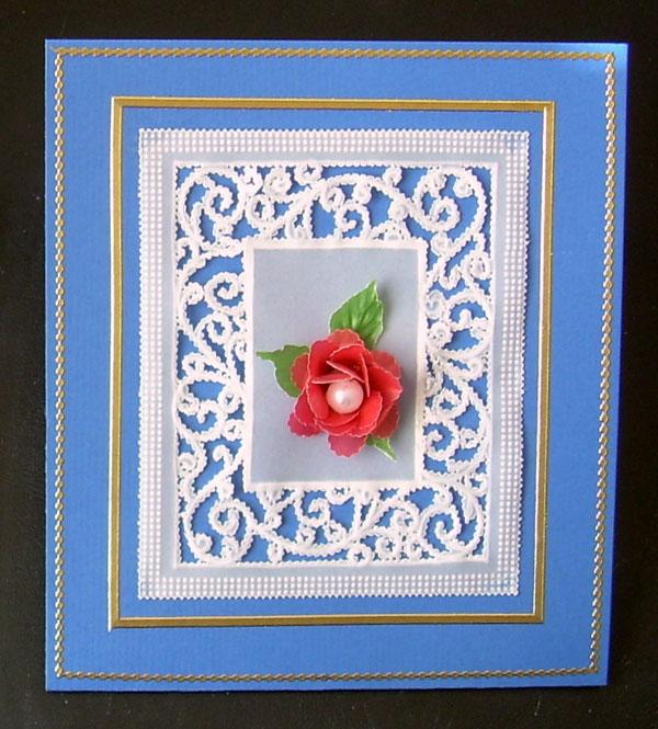 carte bleue rose rouge pergamano