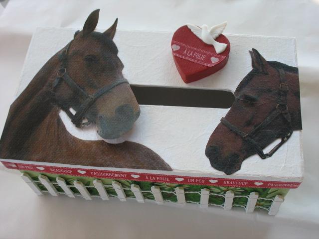 Boite anniversaire chevaux