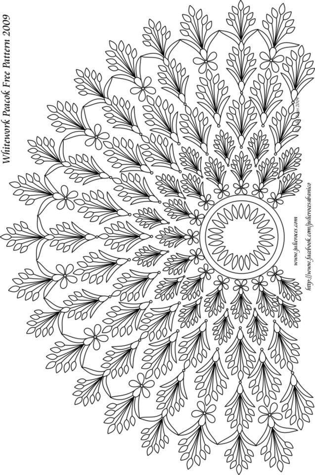 modèle pergamano gratuit patron free pattern julie roces paon 01