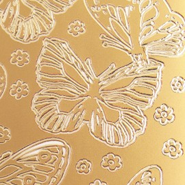 Sticker peel off adhésif or papillons
