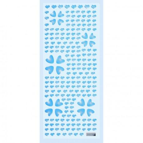 Stickers adhésifs glossy coeur bleu