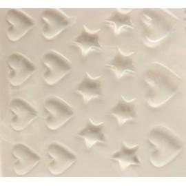 Stickers adhésifs coeur et étoile transparent