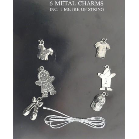 Stickers adhésifs métal poupée et vêtement