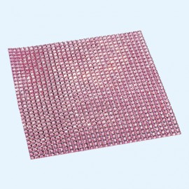 Strass autocollant rose 3mm 900 strass 10x10cm