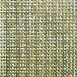 Strass autocollant vert 3mm 900 strass 10x10cm