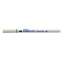 Stylo incolore à double pointe pour embosser