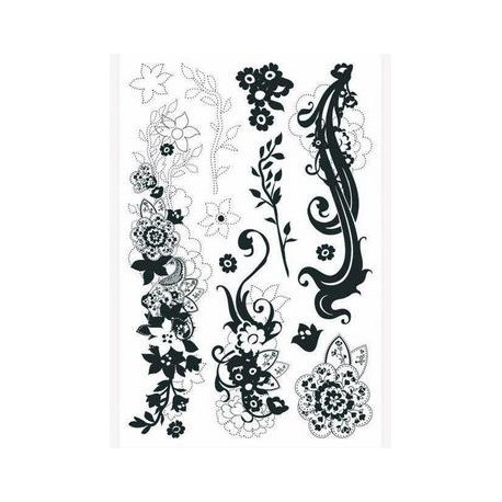 Tampon clear stamps ornemental flowers