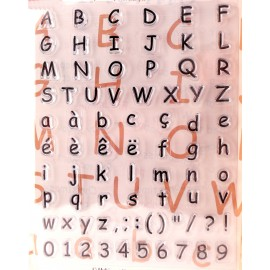 Tampon clear stamps alphabet kids