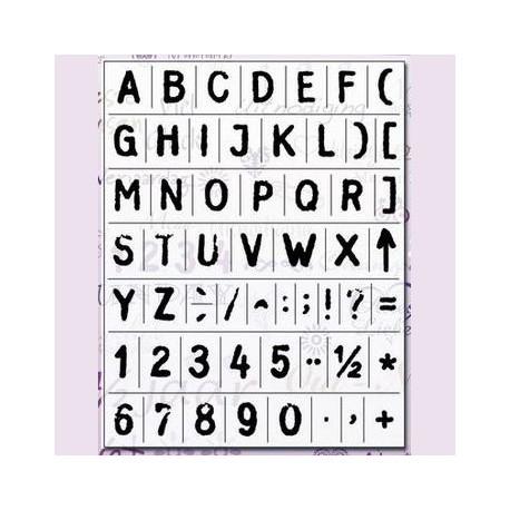 Tampon clear stamps alphabet gothique majuscules