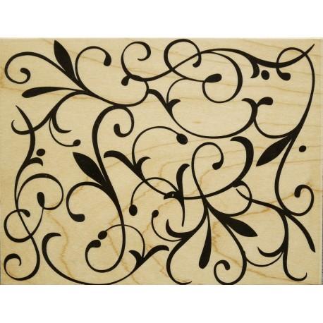 Tampon bois arabesque