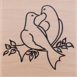 Tampon bois colombe de l'amour
