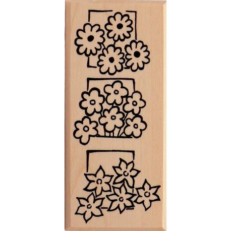 Tampon bois fleurs