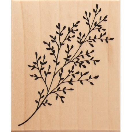 Tampon bois branche fleurie