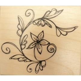 Tampon bois vigne en fleurs