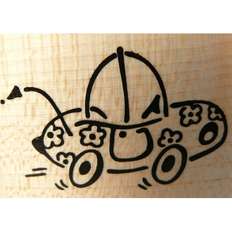 Tampon bois voiture