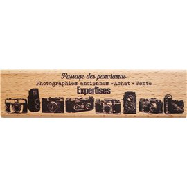Tampon bois texte photographies anciennes