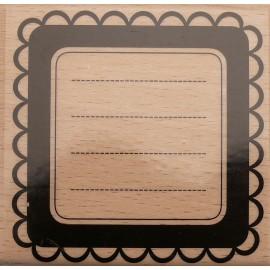 Tampon bois texte photos