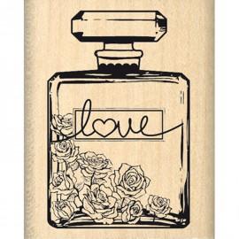 Tampon bois amour bouteille de parfum