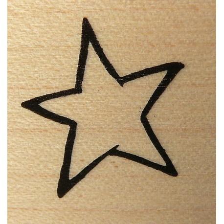 Tampon bois étoile