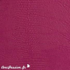 Papier simili cuir téjus fushia