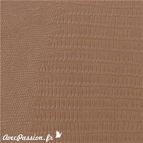 Papier simili cuir téjus taupe