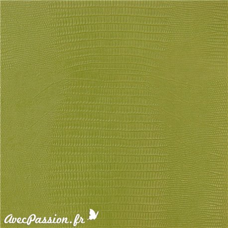 Papier simili cuir téjus vert