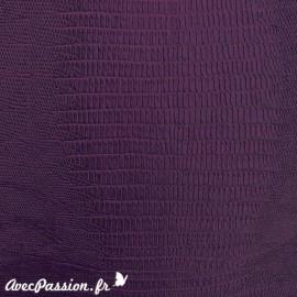Papier simili cuir téjus violet