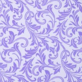 Tissu non tissé chemin de table Vlies Creapop floqué lavande 3mx29cm