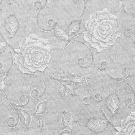 Tissu non tissé Vlies Creapop rose magique blanc 3mx29cm