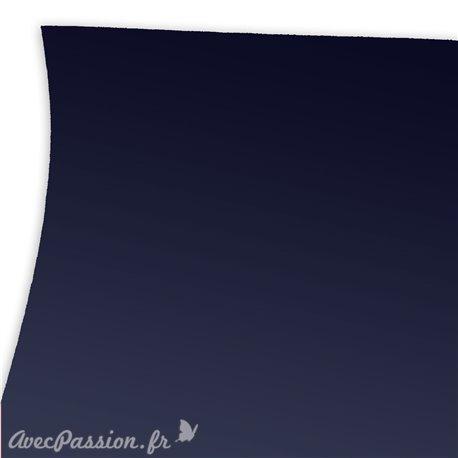 Papier uni bleu nuit imitation touché de la peau