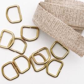 Attaches tresse de lin 1m + 10 petits anneaux D12 pour cartons