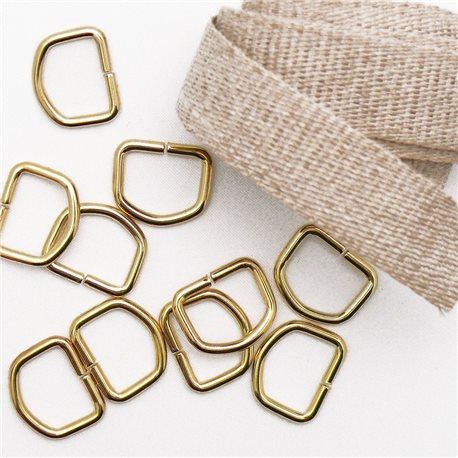 Attaches tresse de lin 1m + 10 anneaux D12 pour cartons