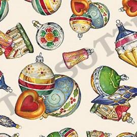Papier tassotti motifs noël boules de noël