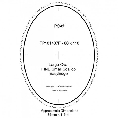 PCA Template FINE Ovale milieu extérieur EasyEdge coquille large