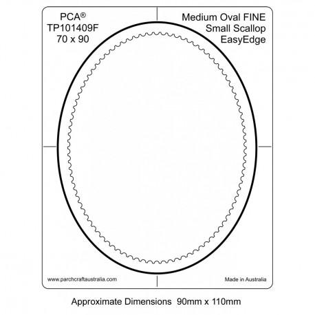PCA Template FINE Ovale milieu intérieur EasyEdge coquille medium