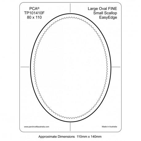 PCA Template FINE Ovale milieu intérieur EasyEdge coquille large