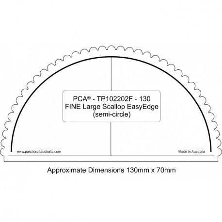 PCA Template FINE demi cercle extérieur EasyEdge coquille Grand