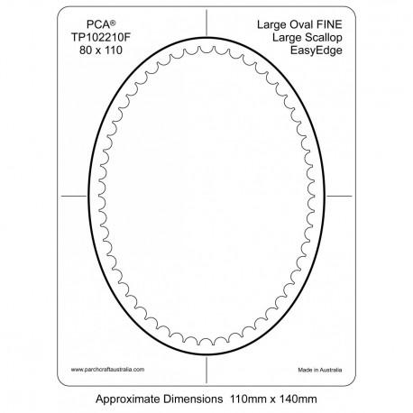 PCA Template FINE ovale large intérieur EasyEdge pétoncles Grand
