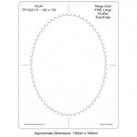 PCA Template FINE ovale extra large intérieur EasyEdge pétoncles Grand