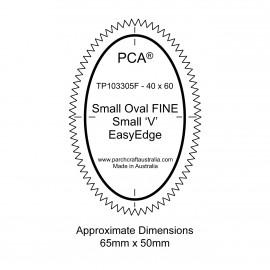 PCA Template FINE ovale extérieur petites 'V' EasyEdge