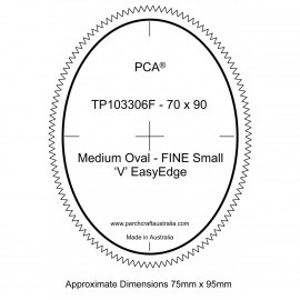 PCA Template FINE ovale extérieur medium 'V' EasyEdge