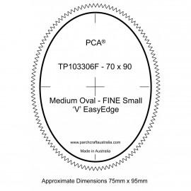 PCA Template FINE ovale extérieur medium 'V' EasyEdge