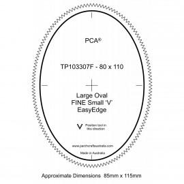 PCA Template FINE large ovale extérieur petit 'V' EasyEdge