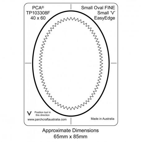 PCA Template FINE petit ovale extérieur petit 'V' EasyEdge