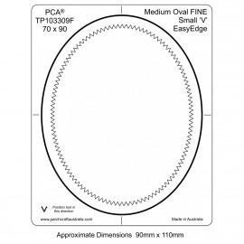 PCA Template FINE medium ovale extérieur petit 'V' EasyEdge