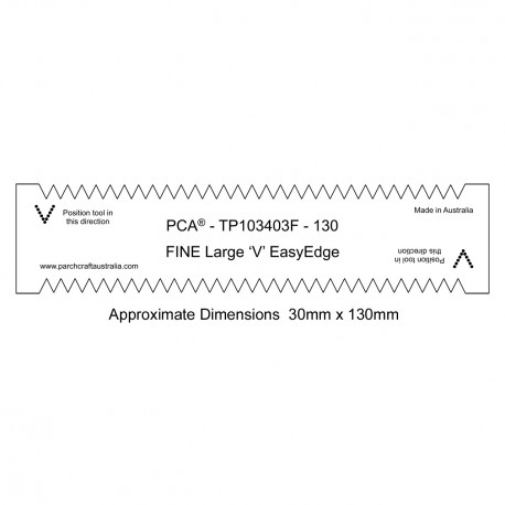 "PCA Template FINE 130mm straight large ""V"" EasyEdge"