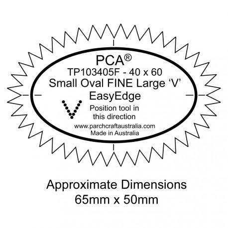 PCA Template FINE petit ovale extérieur large 'V' EasyEdge
