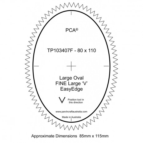 PCA Template FINE Ovale large milieu extérieur Grand EasyEdge 'V' large